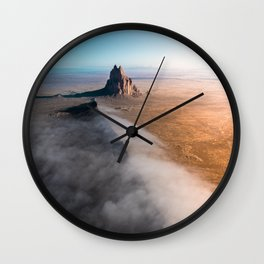 Shiprock volcanic formation in New Mexcio Wall Clock