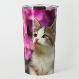 Kittens in bowl Travel Mug