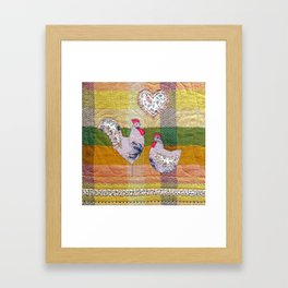 Folk art in pastels Framed Art Print