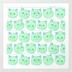 Exotic shorthair cat pattern Art Print