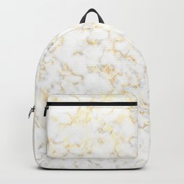 Reflection of the golden glare with marble Backpack