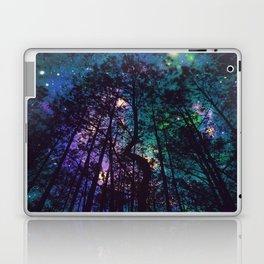 Black Trees Colorful Teal Space Laptop & iPad Skin