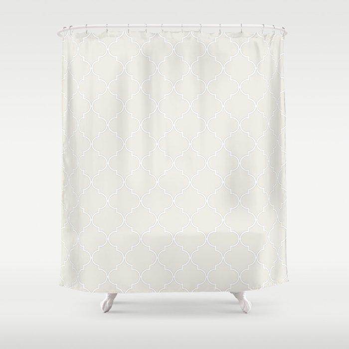 Coconut Milk Quatrefoil Shower Curtain