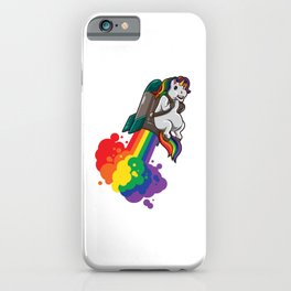 Chubby Unicorn With Jetpack iPhone Case