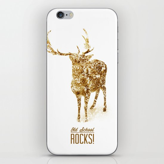 Old School Rocks! Gold Deer Version iPhone & iPod Skin