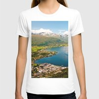 norway T-shirts featuring Sandane, Norway by MankiniPhotography