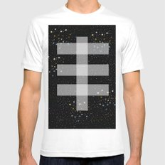 Double drop White MEDIUM Mens Fitted Tee