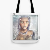 "cassia beck Tote Bags featuring ""Froza"" by MiaSnow and Trindolyn Beck by Trindolyn Beck"