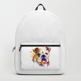 English Bulldog Head Backpack