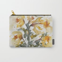 Essence of Daffodil in Watercolor Carry-All Pouch