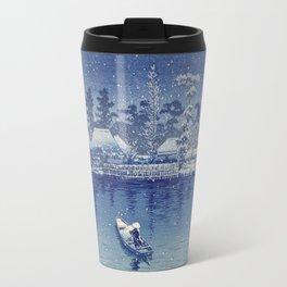 Ushibori, Kawase Hasui, 1930 - Japanese Woodcut Travel Mug