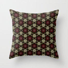 Metallic Deco Little Leaves Throw Pillow