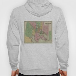 Vintage Map of Baltimore Maryland (1838) Hoody