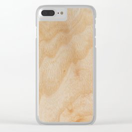 Unique rotary birch yellow wood design Clear iPhone Case