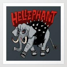 Hellephant Art Print