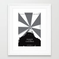 shadow of the colossus Framed Art Prints featuring Shadow of the Colossus by Dane Artman