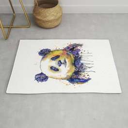 Colorful Panda Head Rug