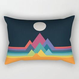 Whimsical Mountains Rectangular Pillow