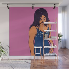 Orange Pink Lady Wall Mural
