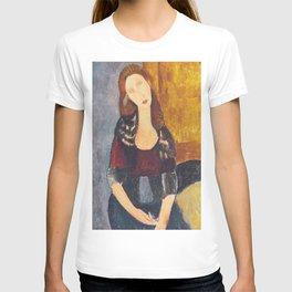 Jeanne Hebuterne woman portrait by Amedeo Modigliani T-shirt