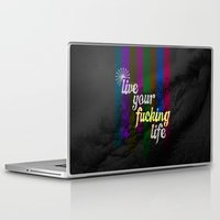 yolo Laptop & iPad Skins featuring #YOLO by Shipwreck Moon Designs