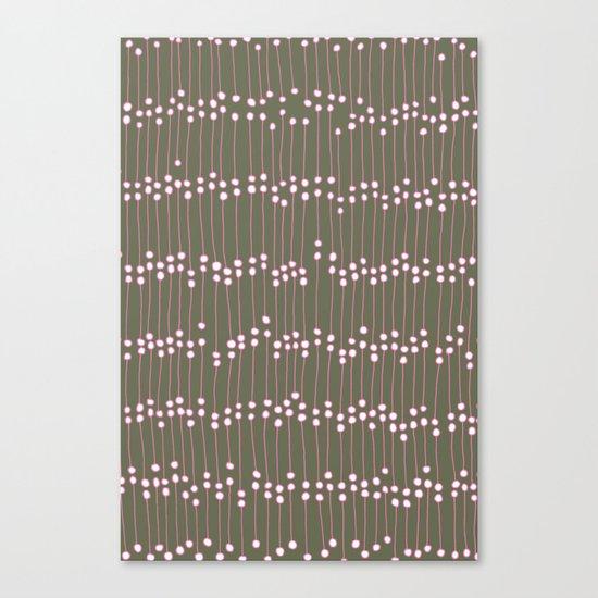 Long Dots Canvas Print