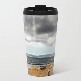 Portsmouth beach Travel Mug