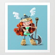 RAYMAN LEGENDS - BARBARA FAN ART Art Print