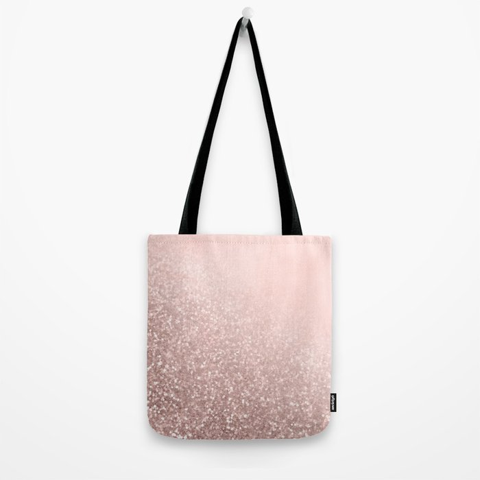 Rose Gold Sparkles on Pretty Blush Pink VI Tote Bag