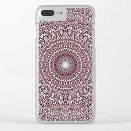 Light Pink Floral Mandala Clear iPhone Case