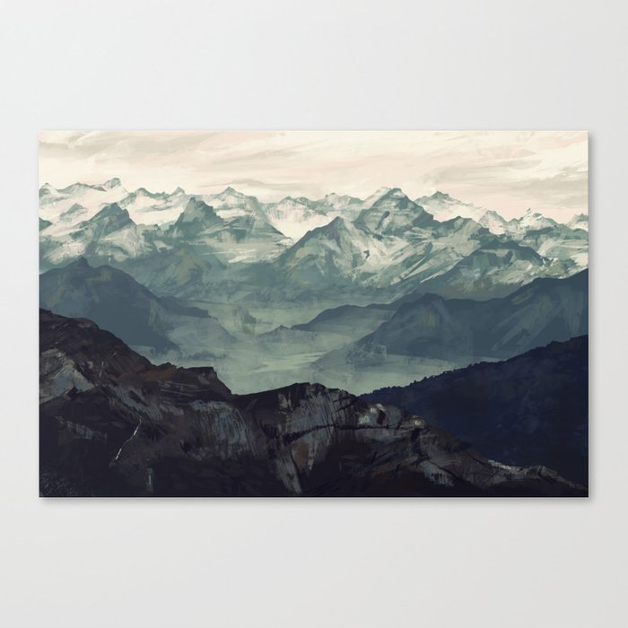 Mountain Fog Leinwanddruck