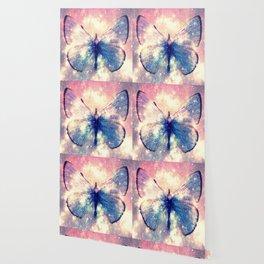 Celestial Butterfly Deep Pastels Wallpaper
