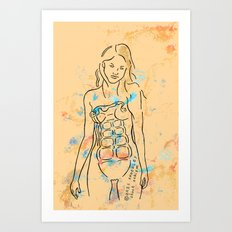grenade girl Art Print