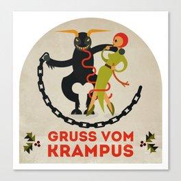 Gruss vom Krampus II Canvas Print