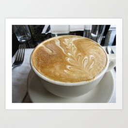 """""""For The Love Of Latte"""" Coffee Print, Food Photography Art Print"""