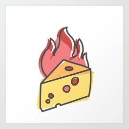 Extreme Cheese Art Print