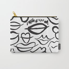 Sketchy Lips Carry-All Pouch