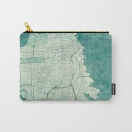 San Francisco Map Blue Vintage  Carry-All Pouch