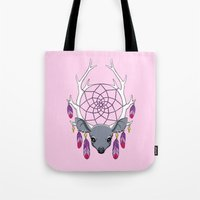 dreamcatcher Tote Bags featuring Dreamcatcher by Freeminds