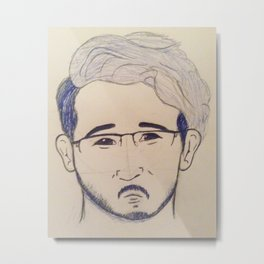 Markiplier from the Try Not To Laugh Challenge feat. Ninja Brian Metal Print