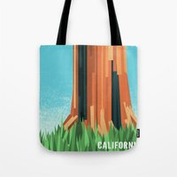 california Tote Bags featuring California by AtomicChild