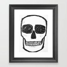 No. 89 - Black and white skull Framed Art Print