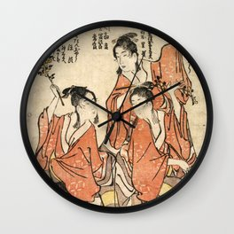Going to a Sumo Match Wall Clock
