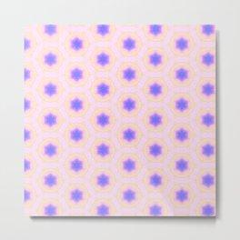 Tiny blue stars pattern Metal Print