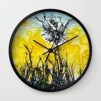 tim burton Wall Clocks featuring Tim Burton by Jose Luis