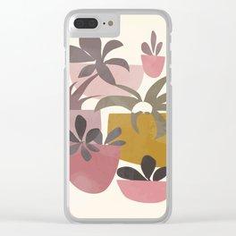 Succulents in Terracotta Clear iPhone Case