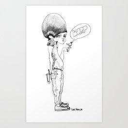 don't tweet, just burp Art Print