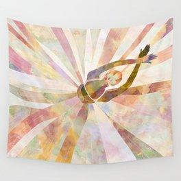 Sleeping Ballerina Floral - Gold Summer Palette Wall Tapestry
