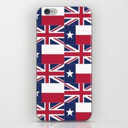 Union Jack Texas Flag iPhone Skin