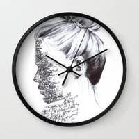 the national Wall Clocks featuring THE NATIONAL by Alice Green